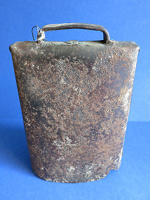 """c.1900 Antique 6.75"""" Hand Forged ~ OLD VINTAGE SONOMA IRON ~ Cow Bell w/ Patina"""