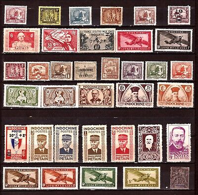 ZY134 INDOCHINE FR. 36 timbres NEUFS : avions, paysages ,personnages et divers