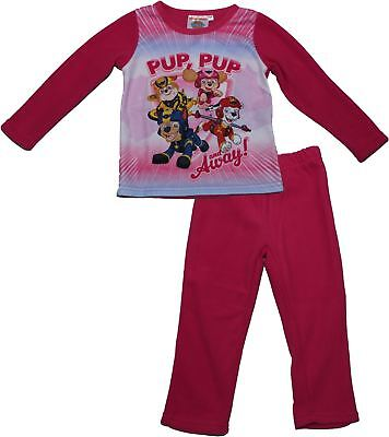 Paw Patrol Girls Skye and Everest Winter Fleece Pyjama Set