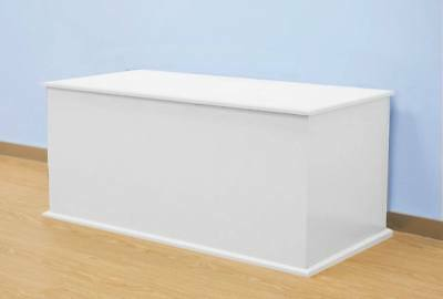 White Ottoman Toy Box Chest Extra Large Wood Storage Wooden Furniture