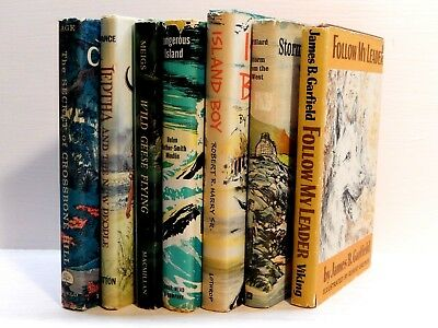 Lot of Seven Vintage Young-Adult/Children's Books. History, Adventure, Dogs