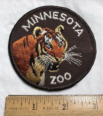 Minnesota Zoo Roaring Tiger Souvenir Round Embroidered Patch