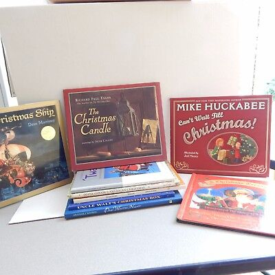 Juvenile Christmas Books Hardback Lot Of 9 Titles Various Authors Holiday