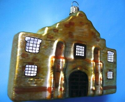 The Alamo Christmas Texas ornament large German glass Germany 1990s boxed