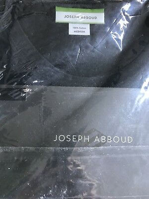 JOSEPH ABBOUD 3 Classic BLACK Crew t Undershirt COTTON Black Medium NWT msrp $29