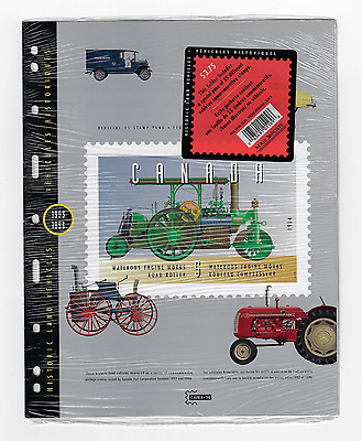 Canada -Pane of 25 Stamps in Cover -Historic Land Vehicles Collections #1605 MNH