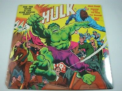 Vintage The Incredible Hulk Stories Peter Pan Records 1978 Vinyl Record LP 8216