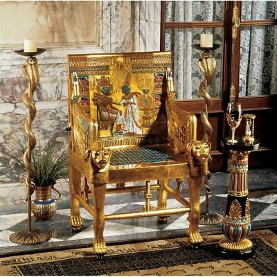 "Ancient Replica Egyptian 41.5"" King Tutankhamen's Throne Arm-Chair"