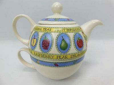 Arthur Wood Tea For One Teapot And Cup Set Fruit Infusions Design