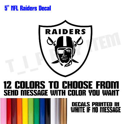 Nfl oakland raiders vinyl decal sticker football for car truck logo nfl football