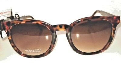 5a01276612 Expedited Dana Buchman Tortoise Sunglasses Brown Gradient Lenses Zebra Stems