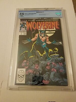Wolverine #1 (1988 Marvel) Graded CBCS 7.5 1st App. Wolverine as Patch