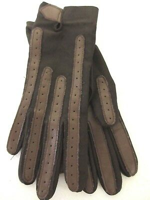 Awesome ISOTONER CHOCOLATE BROWN  stretch nylon spandex Gloves... ONE SIZE