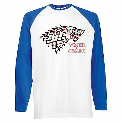 Mens Funny Printed  T Shirts-Winters Coming-House Starks sigil Game of thrones