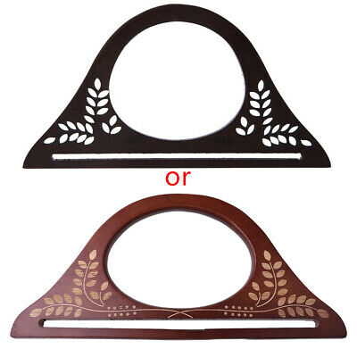 DIY Elegant Wooden Handle Purse Frame Bags Purse Handbags Handles Accessorie New