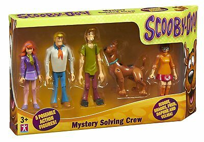 Scooby Doo Mystery Solving Crew 5 Pack Poseable Action Figures 12Cm
