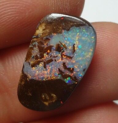 Lapidary: 4.25 carat natural, small polished solid boulder opal from Koroit QLD