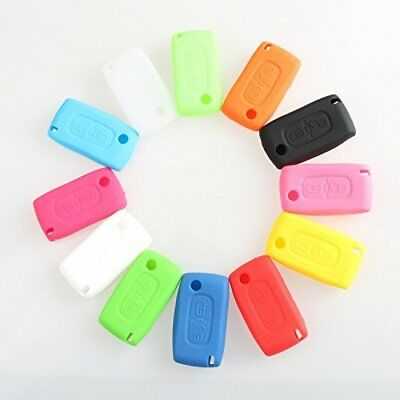 CB228 Remote Silicone Key Case Protective For Peugeot 107 207 307 407 308 607 ☆