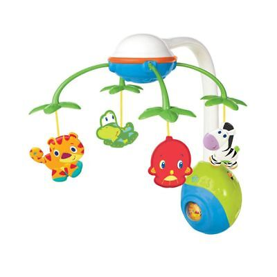 Bright Starts Musical Mobile Cradle Cot Toy Soothing Safari Multicolour K8352