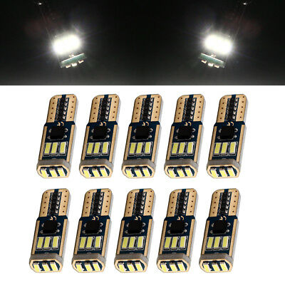 10Pcs 12V CANBUS ERROR FREE LED White T10 194 W5W 4014 9SMD Led Warning Lights