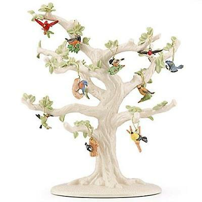 LENOX ~ 10 GARDEN BIRDS Miniature Ornaments  And TREE  ~ Spring ~ NIB