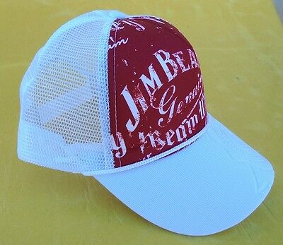 New Jim Beam Cap Red & White With Adjustable Head Band