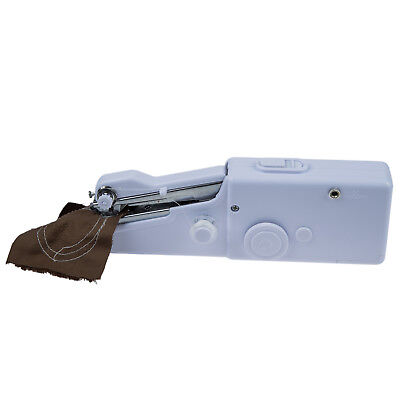 White Portable Lightweight Handheld Sewing Machine for Quick Repairs and Me W U1