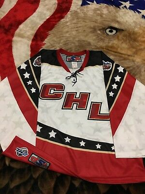 Rare SP 2008 CHL All Star Game Sewn Defunct Minor League Hockey Jersey L ECHL