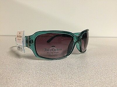 NWT Juicy Couture Women Designer Gradient Sunglasses Square Eyewear Clear Green