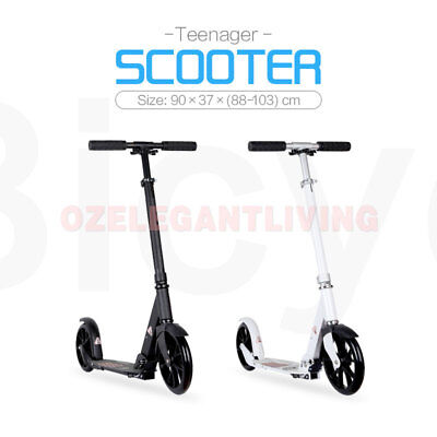 Folding Push Scooter 200mm Big Wheel Teen Child Kids Adjustable Foldable Gift