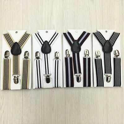 Kid Baby Boy Stripes Clip-on Suspenders Elastic Braces Child Baby Costume Brace
