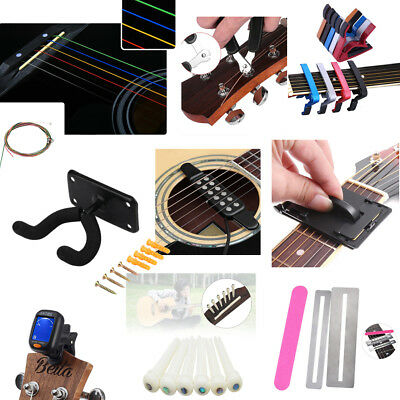 Rainbow Strings Guitar Tone Clips Fretboard Cleaner Hanger Guitar Accessories BS
