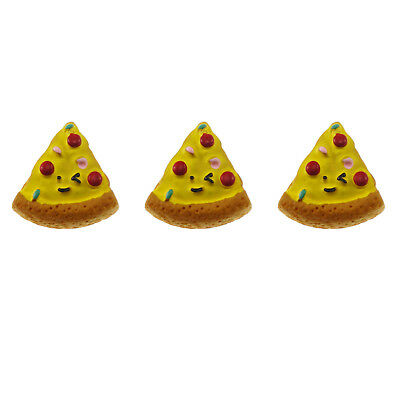 12/20pcs Resin Yellow Color Pizza Shaped Flatback Cabochons Accessories Jewelry