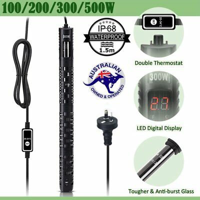 Digital LED Submersible Aquarium Heater 100W upto 500W Fish Tank Thermostat AU R