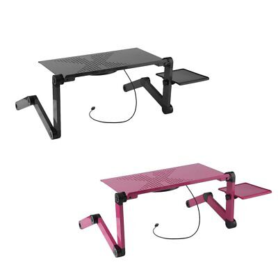 Laptop Computer Notebook Table Stand Desk Bed Tray Adjustable Folding Portable R