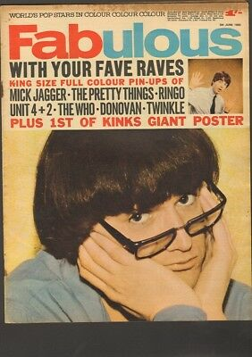 FABULOUS 1965 Mick Jagger KINKS Pretty Things RINGO STARR Unit 4+2 The WHO