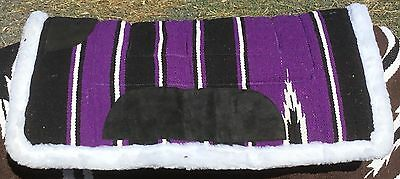 Closing Down Sale - Navajo Saddle Pad Synthetic Wool Backed Purple