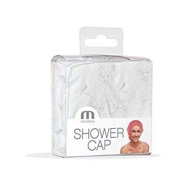 Meridiana pizzo sangallo Stlye Shower Cap, bianco (T5d)