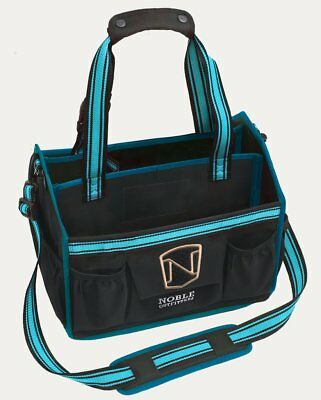 Noble Outfitters EquinEssential Tote - Black with Deep Turquoise Trim