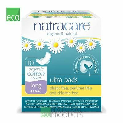 Natracare Organic Cotton Ultra Pads 14 Long Flow