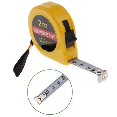 Pocket Keyring Mini 2M Tape Measure Ruler-Tool Builders Home Diy Garage Rule