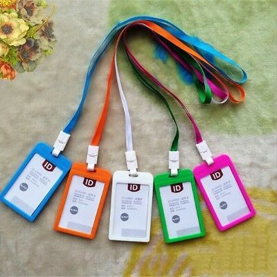 ID Lanyard Neck Strap Clip And Badge Pass Card Holder Pocket Wallet Pouch