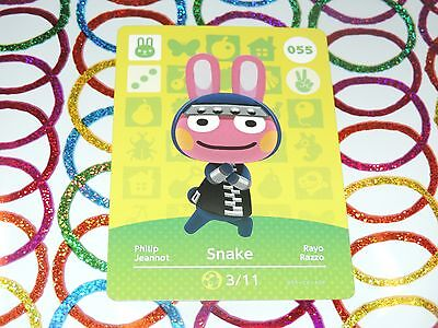 Amiibo Animal Crossing Card Snake no. 055 Top