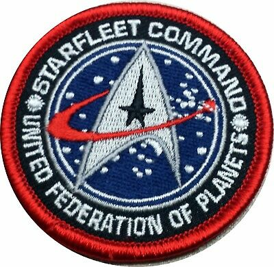 Star Trek Starfleet Command United Federation Patch 2.5 Inches Iron on Patch