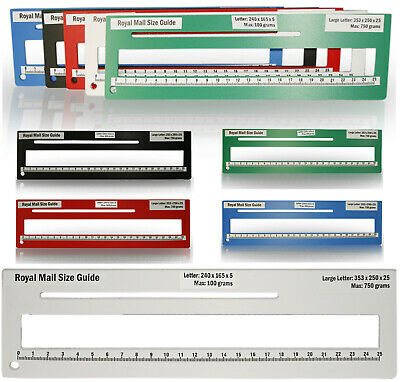 Royal Mail PPI Letter Size Guide Ruler Post Office Postal Price Postage.