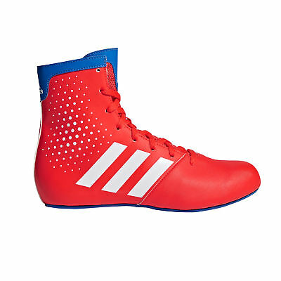 adidas KO Legend 16.2 Kids Boxing Trainer Shoe Boot Red/Blue
