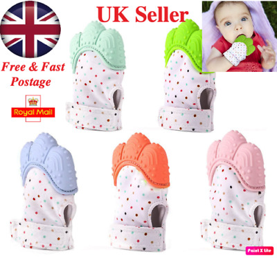 Baby Silicone Mitt Teething Mitten Teething Glove Candy Wrapper Sound Teether