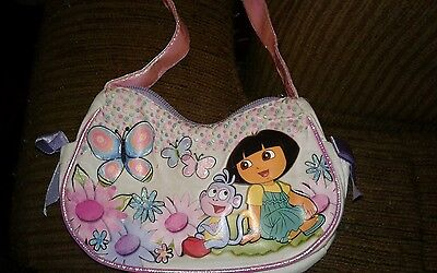 Dora The Explorer & Boots  Kids Purse PINK AND WHITE