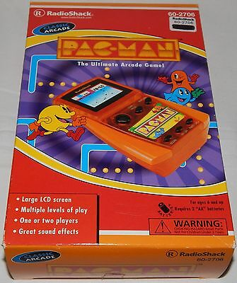 **vintage Pacman/pac-Man Lcd Handheld Game By Radioshack In Box/boxed/nos**