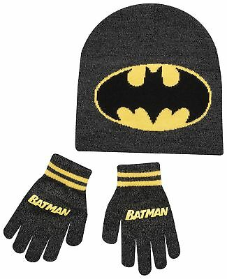 Batman Hat Gloves 2 Piece Boys Winter Set Ages 4 To 8 Years